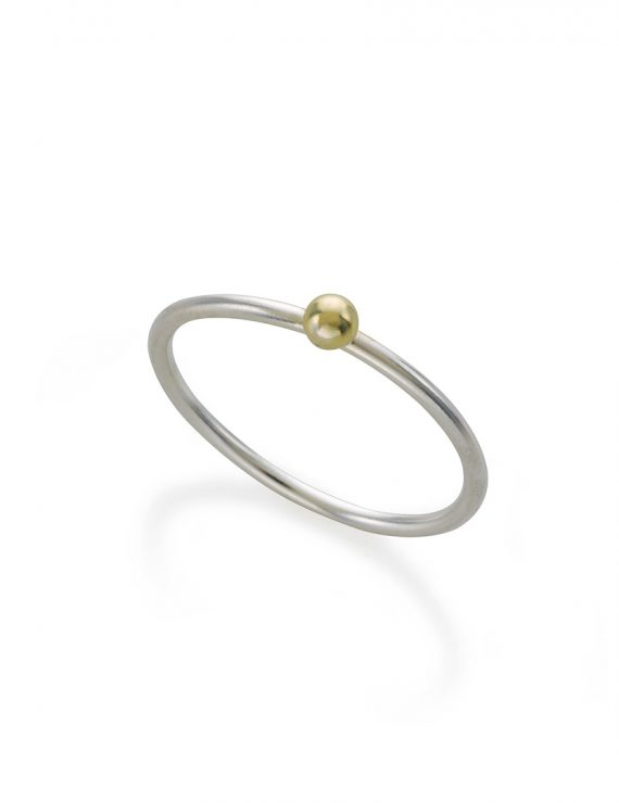 sphere1 ring silver + gf