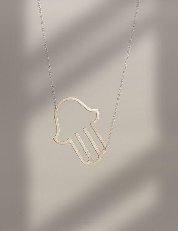 hamsa hand silver p