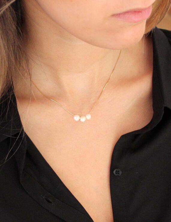 14k 3 pearls