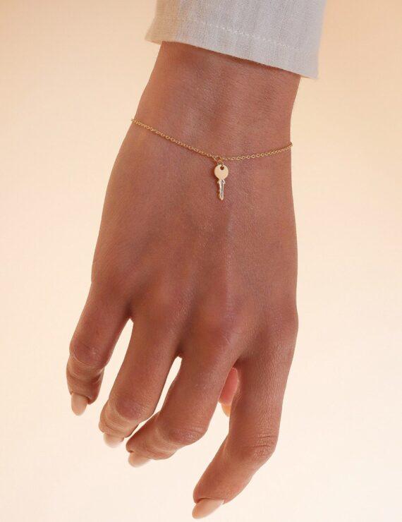 key bracelet gold