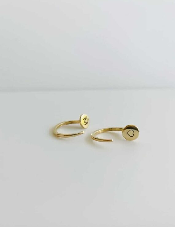 nail earring gold 2