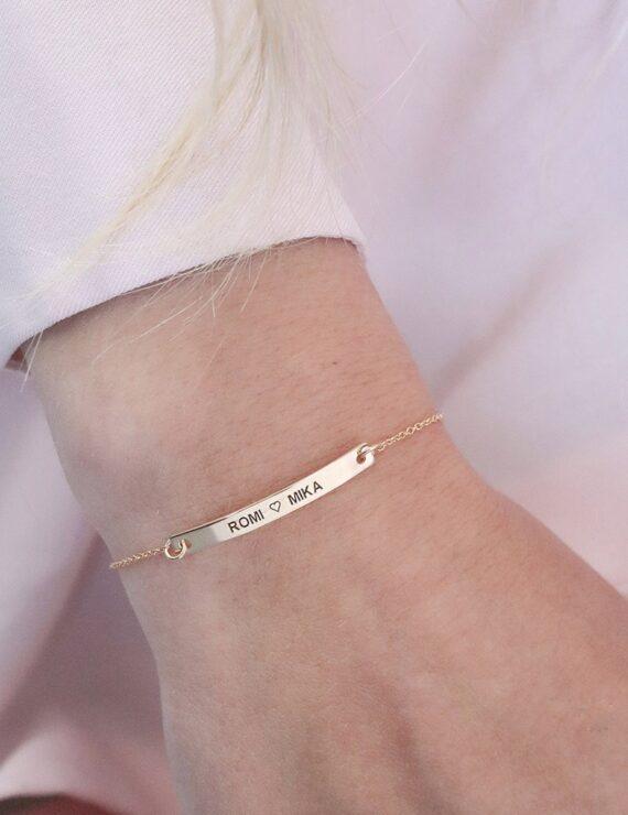 tag bracelet gold 2