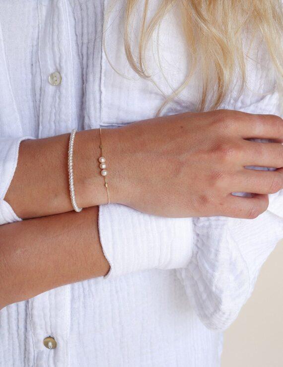 pearls 14 k gold bracelet 2