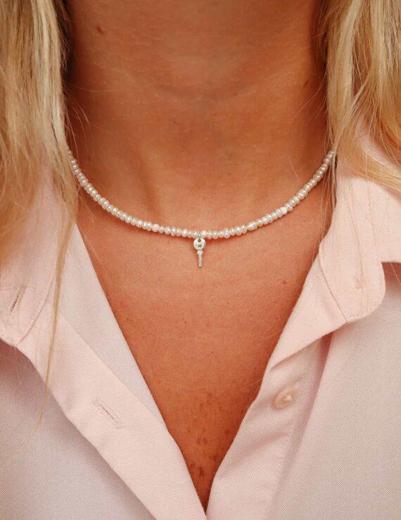 pearls silver key