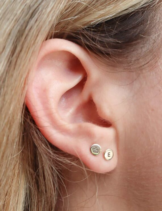 cent earring gold