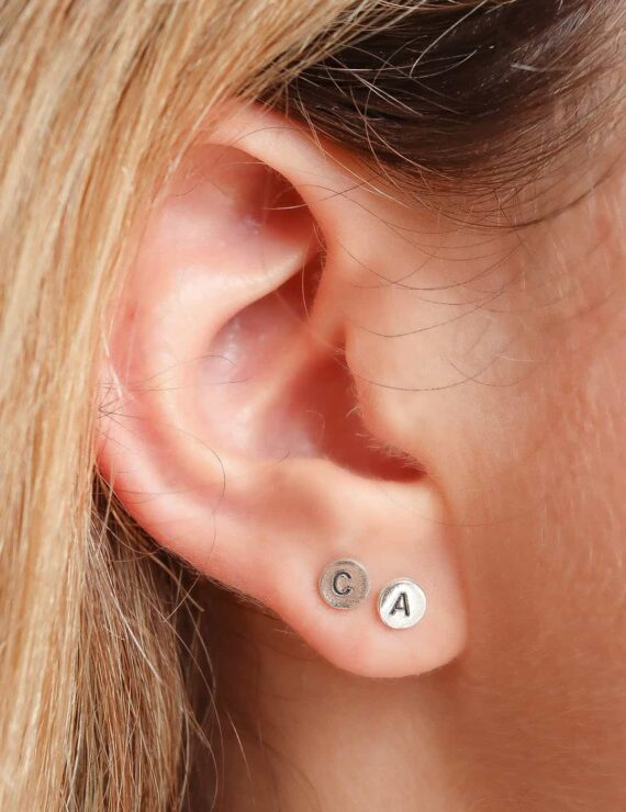 cent earring silver 2